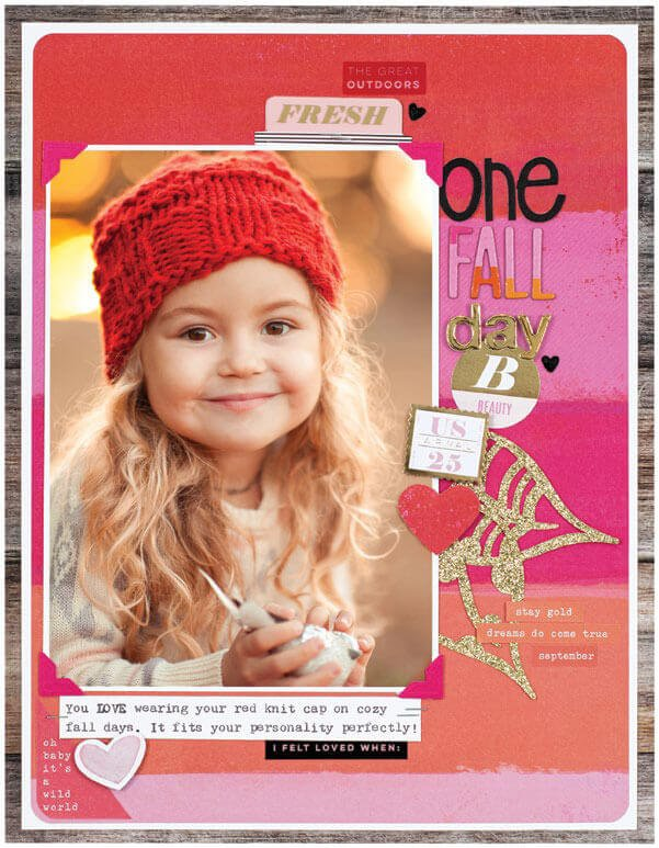 SCT Fall 2019 - One Fall Day layout by Kim Jeffress