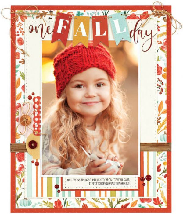 SCT Fall 2019 - One Fall Day layout by Wendy Sue Anderson
