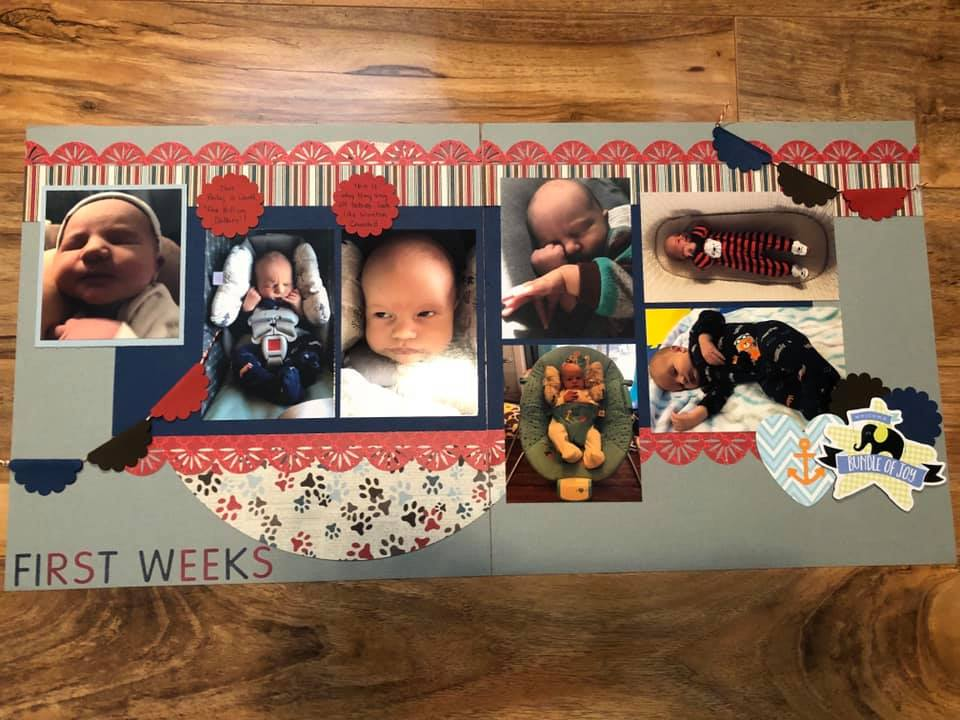 April Layout by Sue Molnar Tersmette