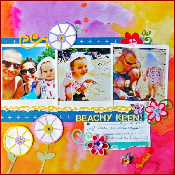August Layout by Barb Prendergast