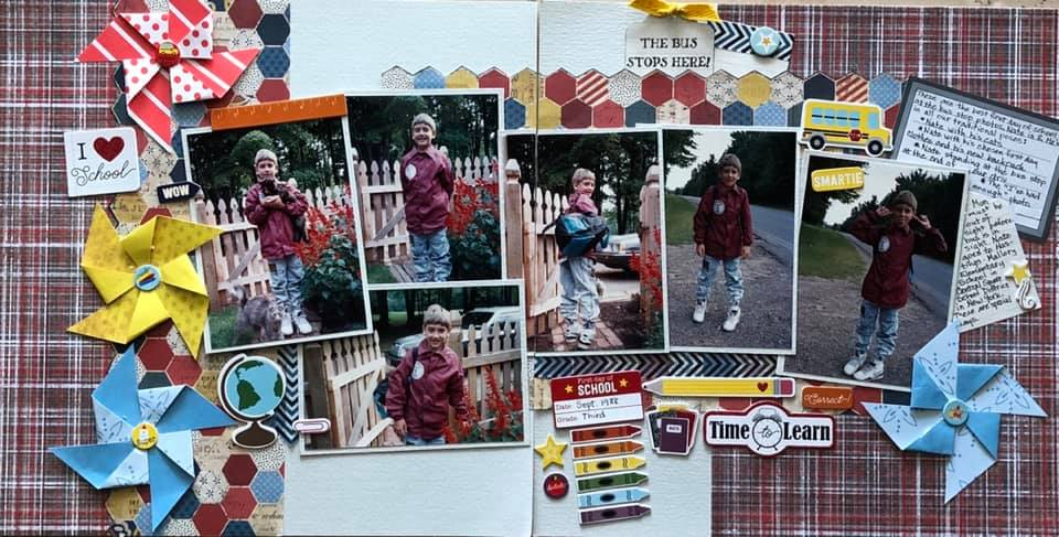 August Layout by Gail Wattier