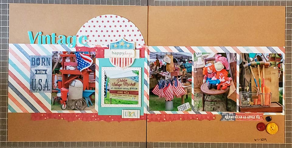 August Layout by Joni Allard