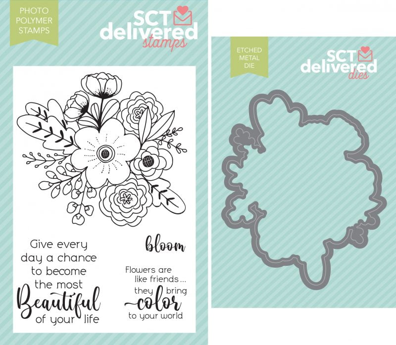Beautiful Blossoms Stamp & Die Combo