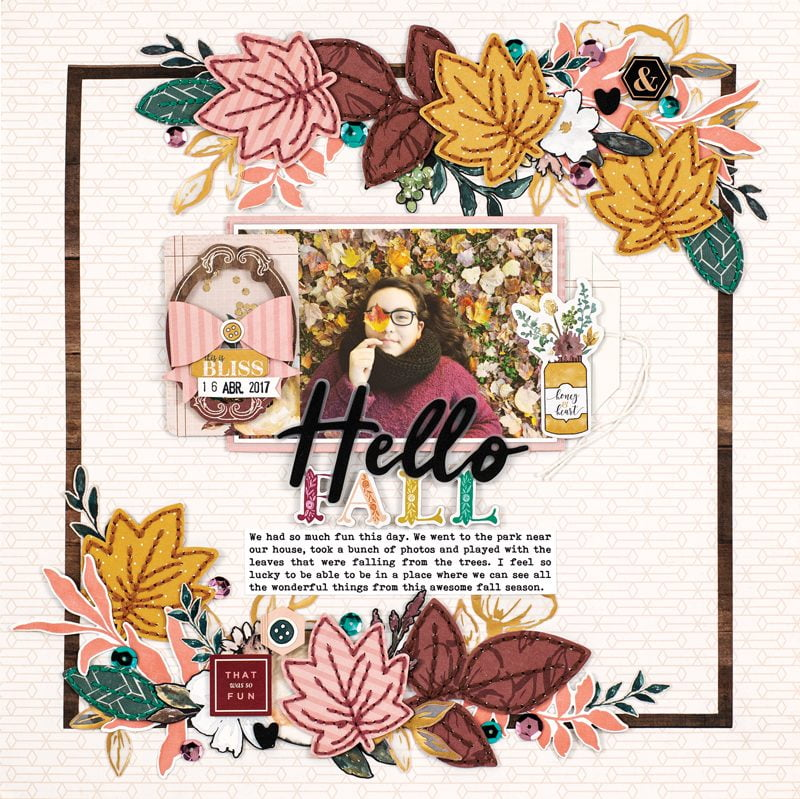 Hello Fall layout by Maryám Perez for Scrapbook & Cards Today