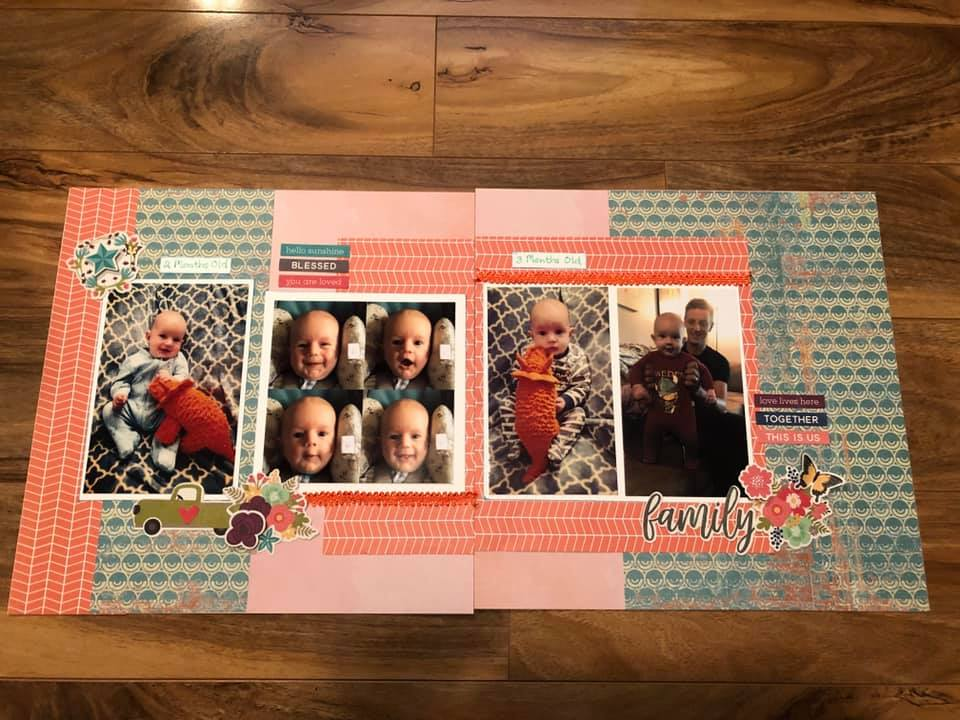 July Layout by Sue Molnar Tersmette