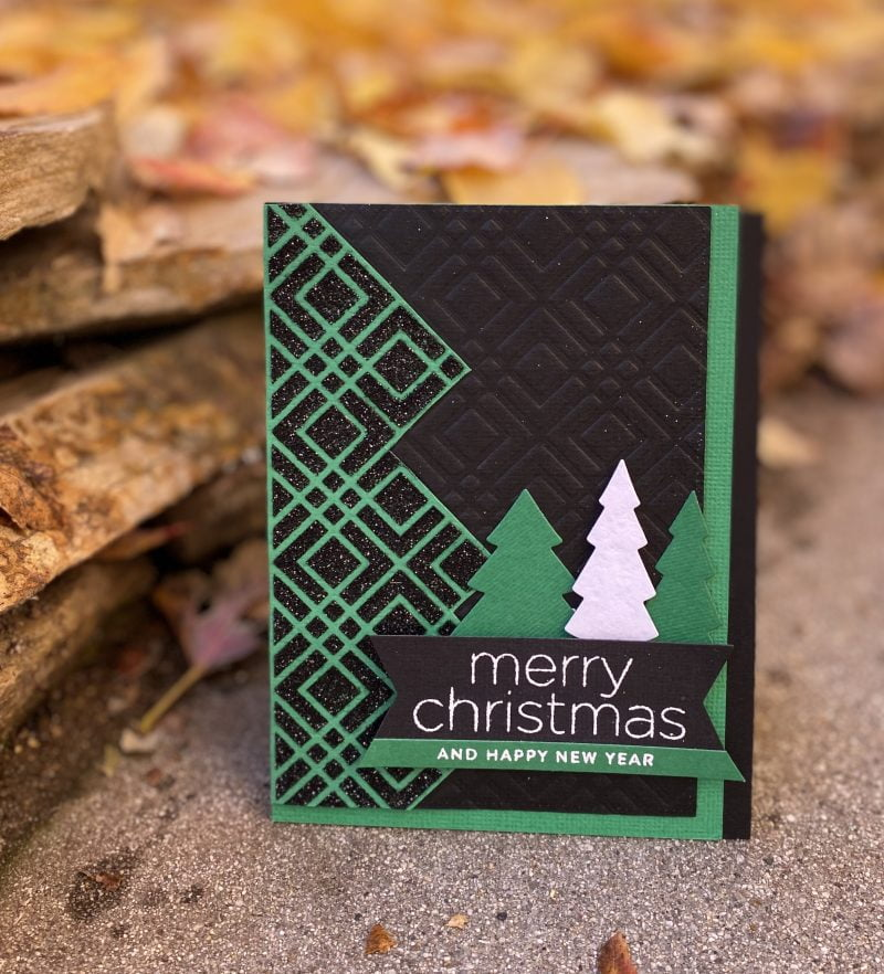 Graphic Merry Christmas card by Susan R. Opel for Scrapbook & Cards Today
