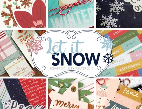 SCT Delivered Let It Snow kit featuring artwork by Meghann Andrew!