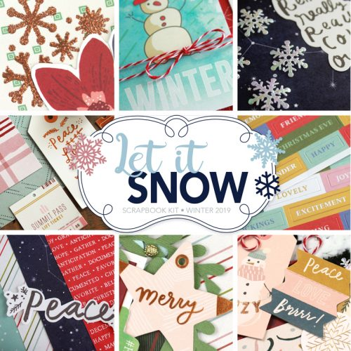 SCT Delivered Scrapbook Kits - Let It Snow