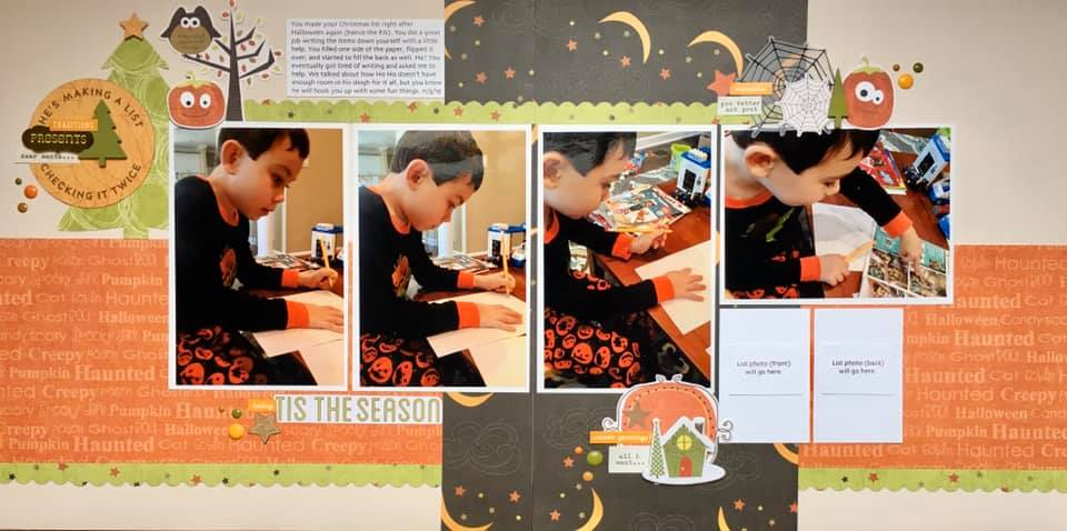 November Layout by Alissa Trowbridge
