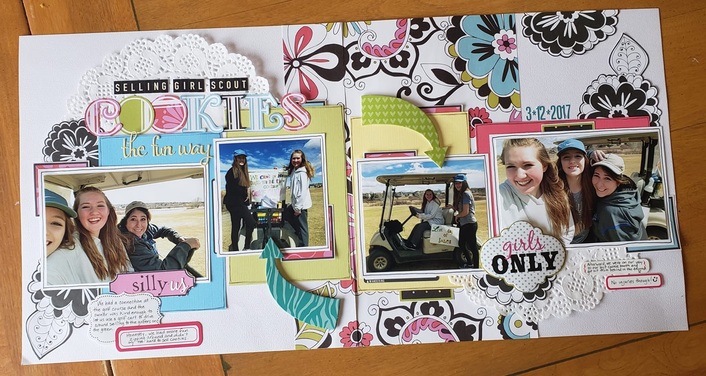 November Layout by Debbie Lucero