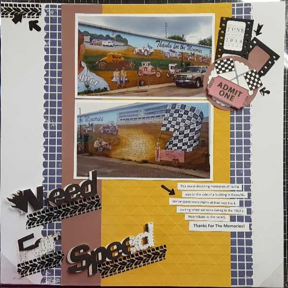 November Layout by Dottie Warren McKelvy