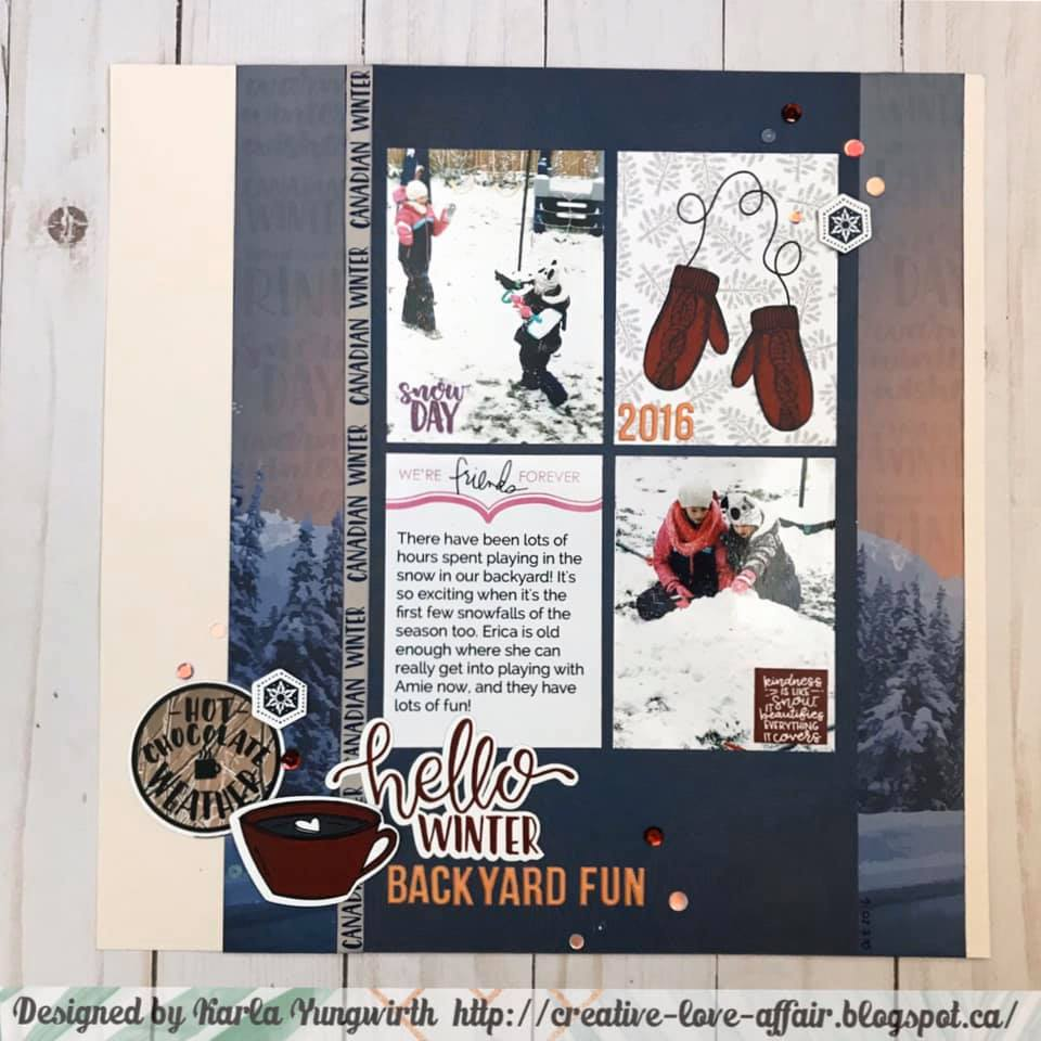 November Layout by Karla Yungwirth