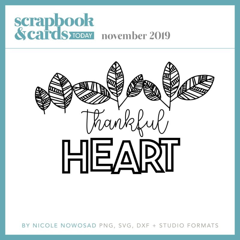 Scrapbook & Cards Today - November 2019 Free Cut File