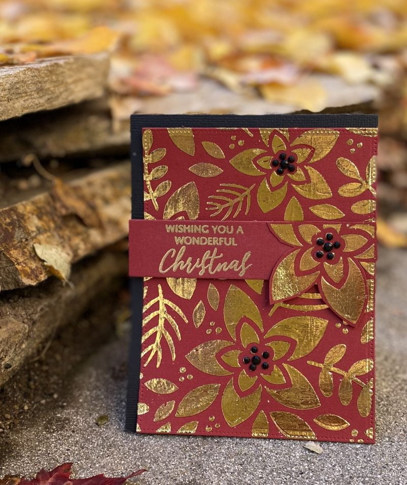 Wishing You a Wonderful Christmas card by Susan R. Opel for Scrapbook & Cards Today