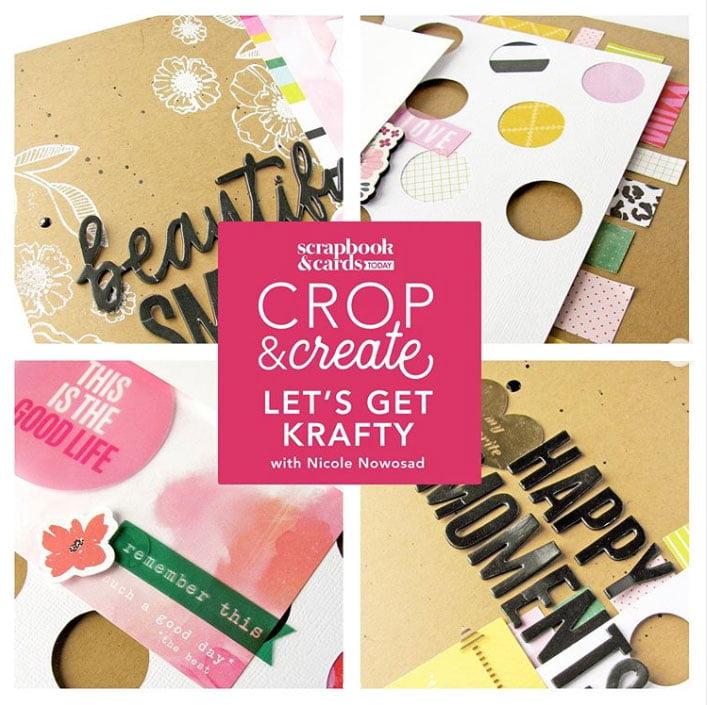 Let's Get Krafty layout workshop with Nicole Nowosad
