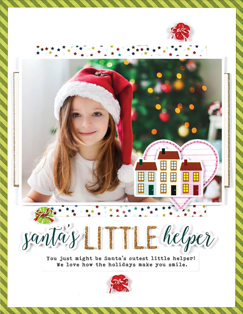 Scrapbook & Cards Today - Winter 2019 - Santa's Little Helper layout by Maryam Perez