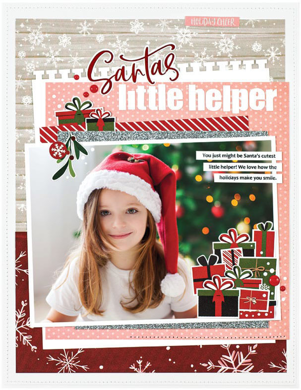 Scrapbook & Cards Today - Winter 2019 - Santa's Little Helper layout by Nicole Nowosad