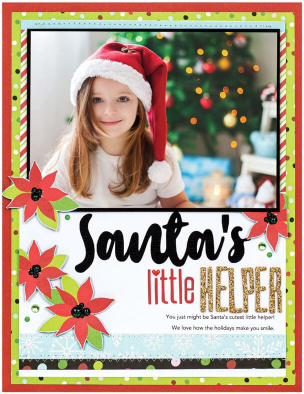 Scrapbook & Cards Today - Winter 2019 - Santa's Little Helper layout by Anya Lunchenko