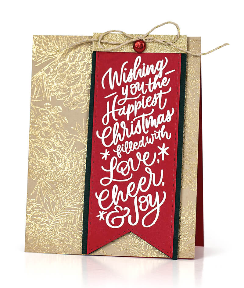 Scrapbook & Cards Today - Winter 2019 - Wishing You The Happiest Christmas Card by Susan R Opel