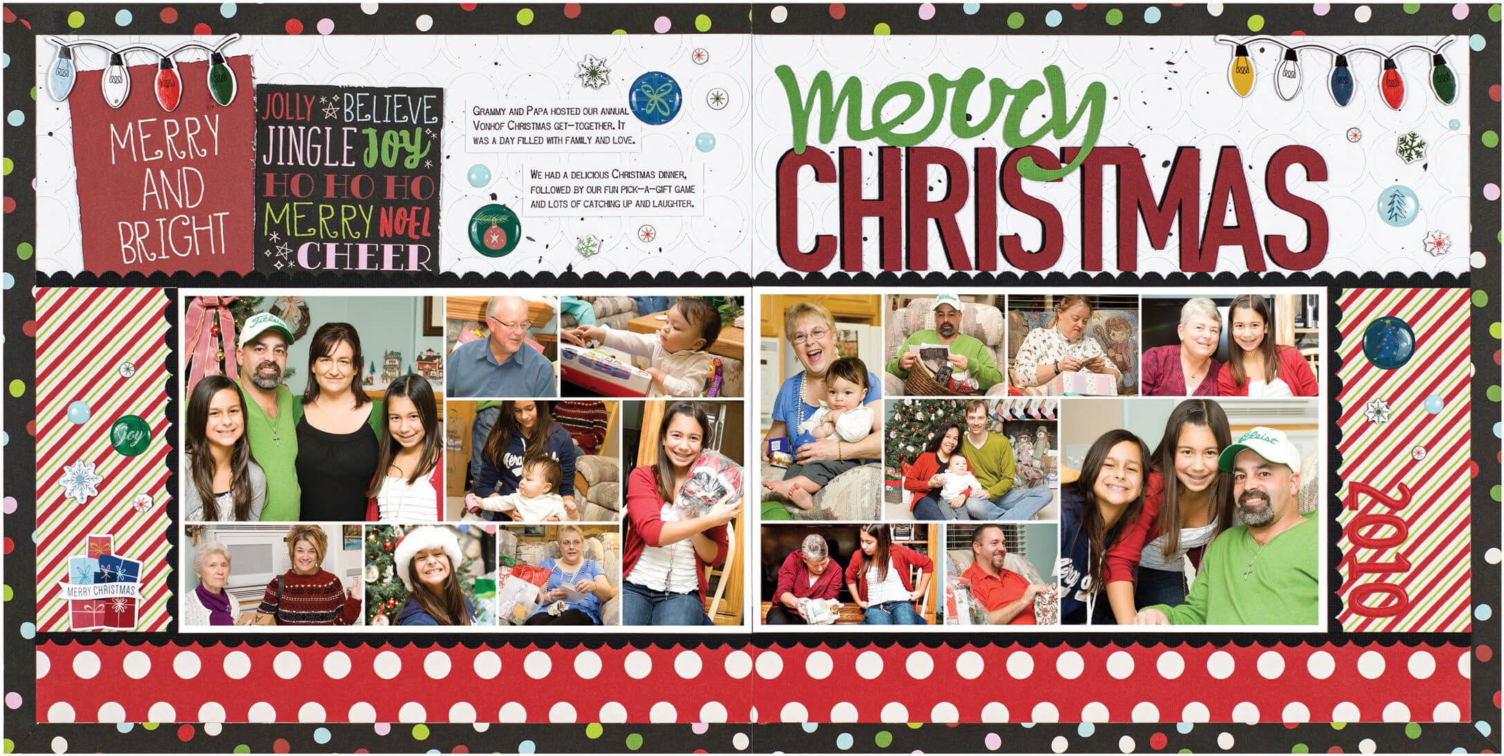 Scrapbook & Cards Today - Winter 2019 - Merry Christmas layout by Laura Vegas
