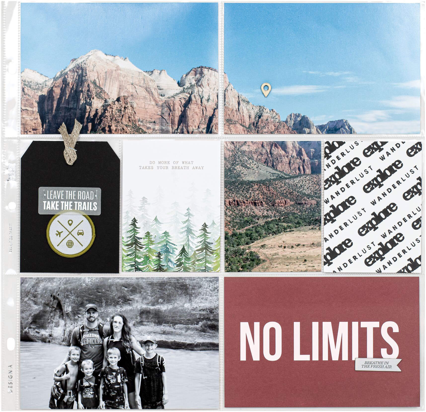 Scrapbook & Cards Today - Winter 2019 - No Limits by Candace Perkins