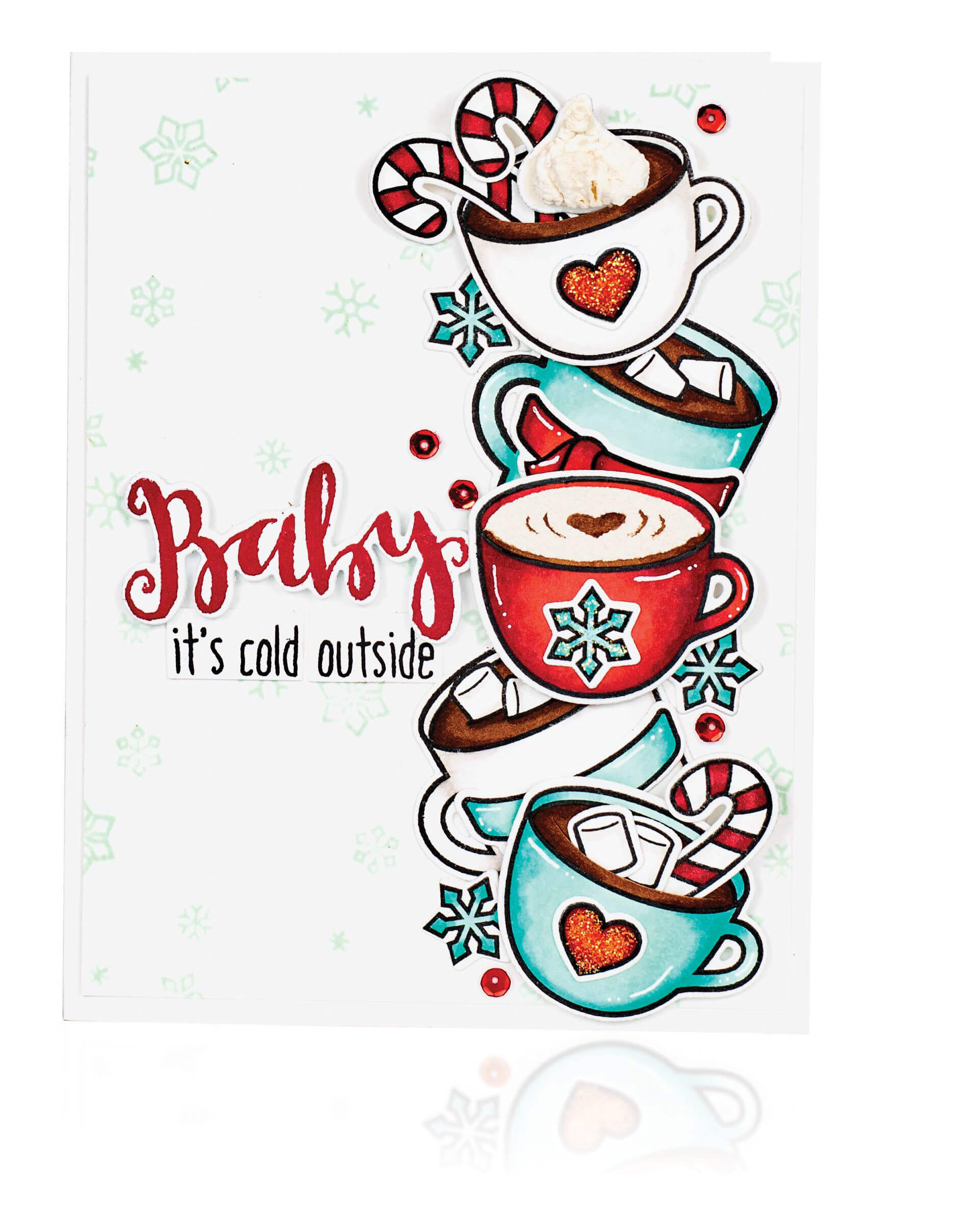 Scrapbook & Cards Today - Winter 2019 - Baby It's Cold Outside card by Joy Baldwin