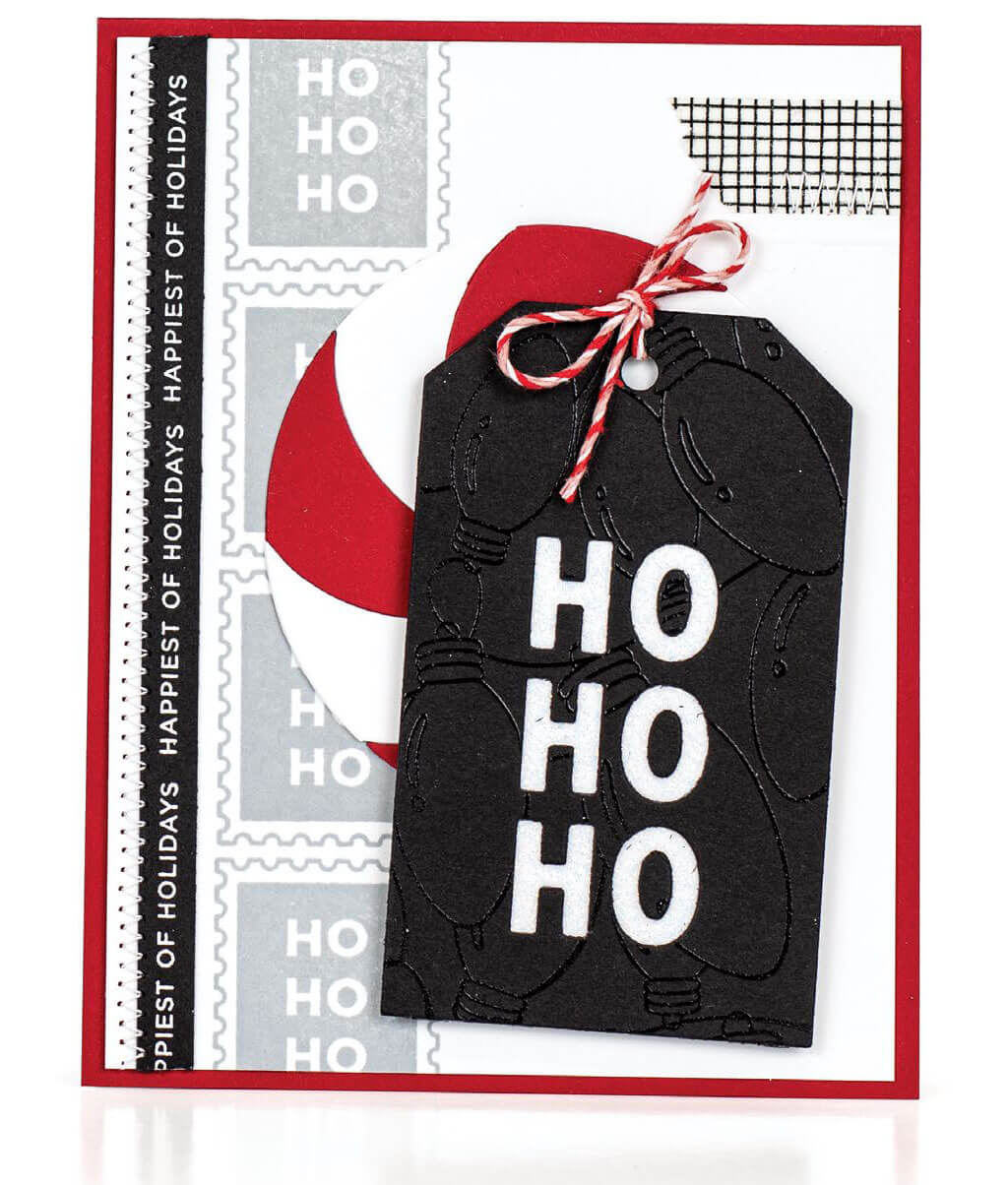 Scrapbook & Cards Today - Winter 2019 - Ho Ho Ho card by Jill Dewey Hawkins
