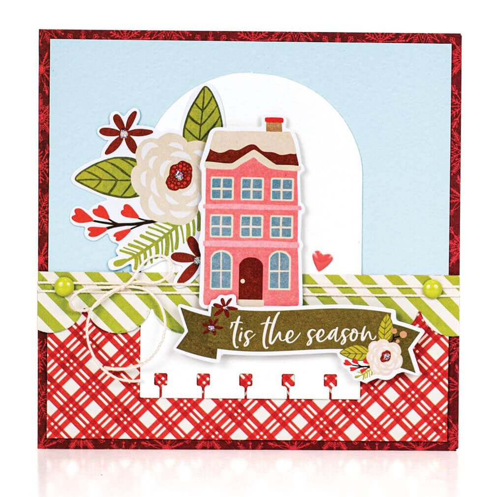 Scrapbook & Cards Today - Winter 2019 - Tis The Season card by Sheri Reguly