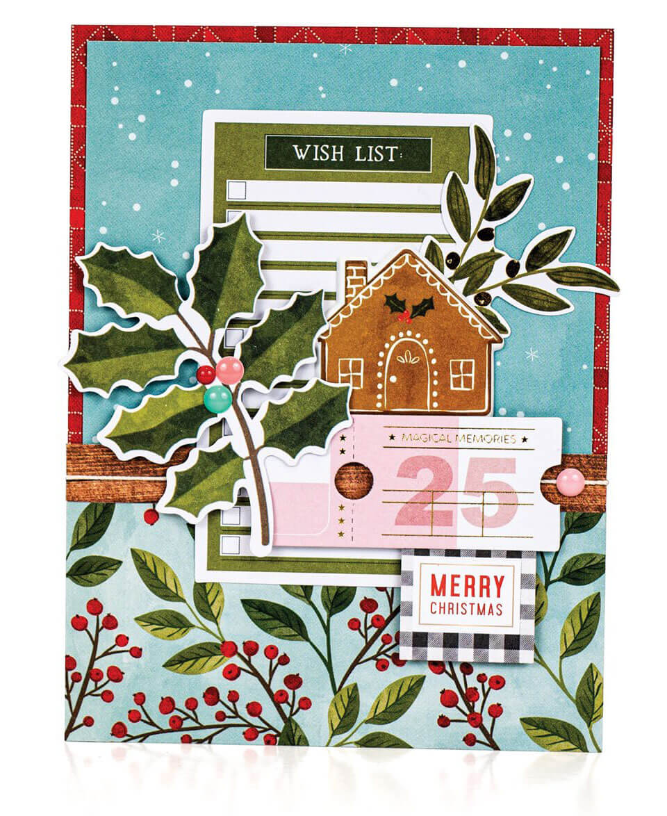 Scrapbook & Cards Today - Winter 2019 - Merry Christmas card by Sheri Reguly