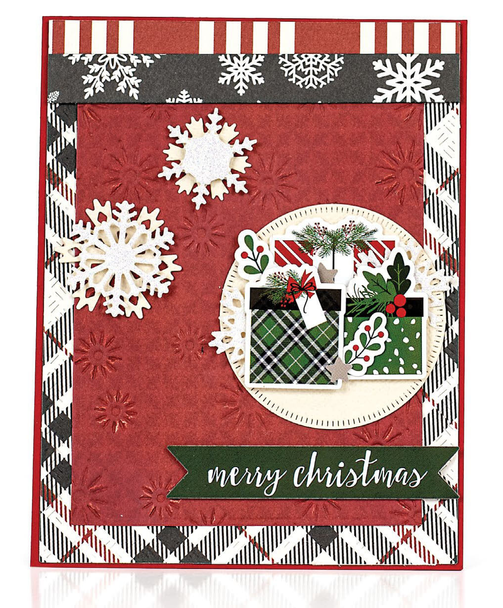 Scrapbook & Cards Today - Winter 2019 - Merry Christmas card by Consuelo Morales