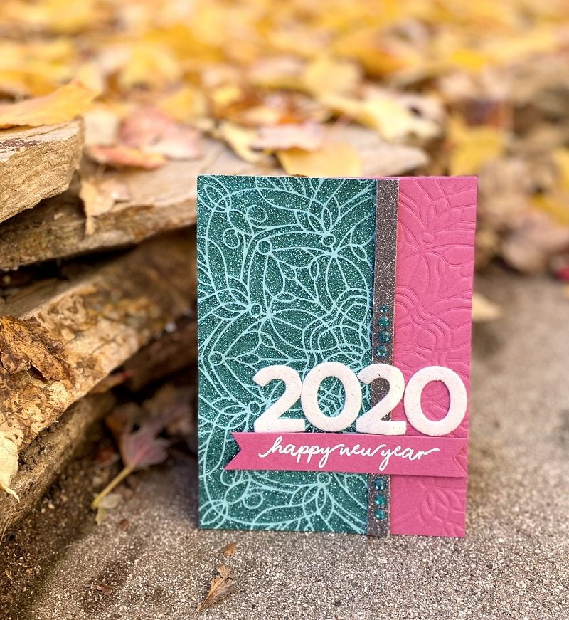 2020 Happy New Year card by Susan R. Opel for Scrapbook & Cards Today