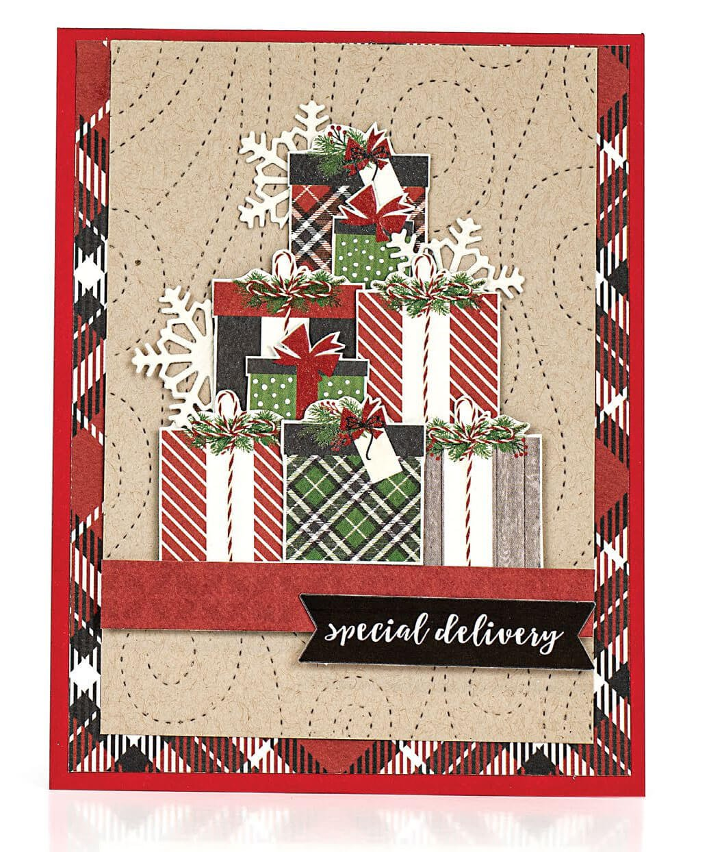 Scrapbook & Cards Today - Winter 2019 - Special Delivery card by Consuelo Morales