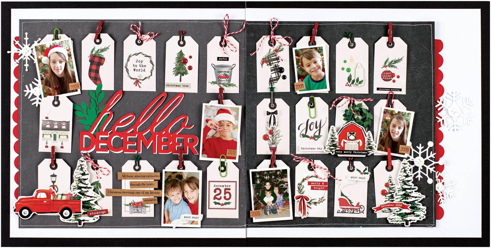 Scrapbook & Cards Today - Winter 2019 - Hello December layout by Jennifer S Gallacher