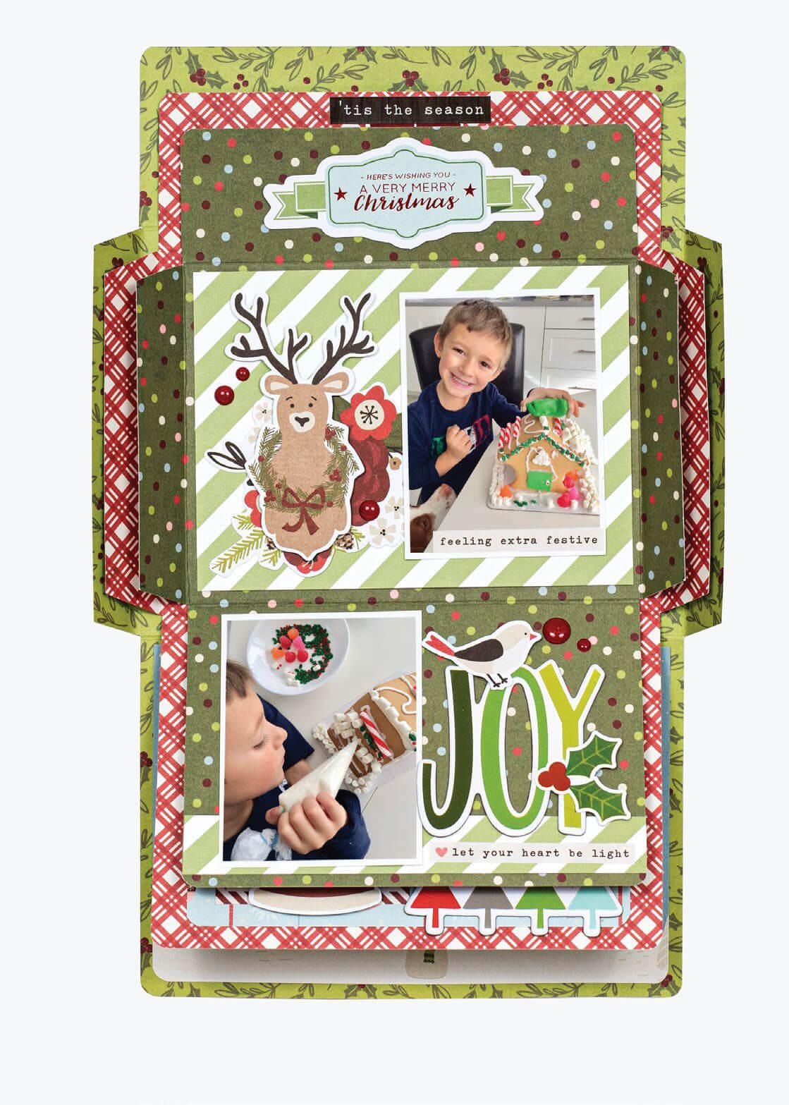 Scrapbook & Cards Today - Winter 2019 - Eat Drink & Be Merry by Virginia Nebel
