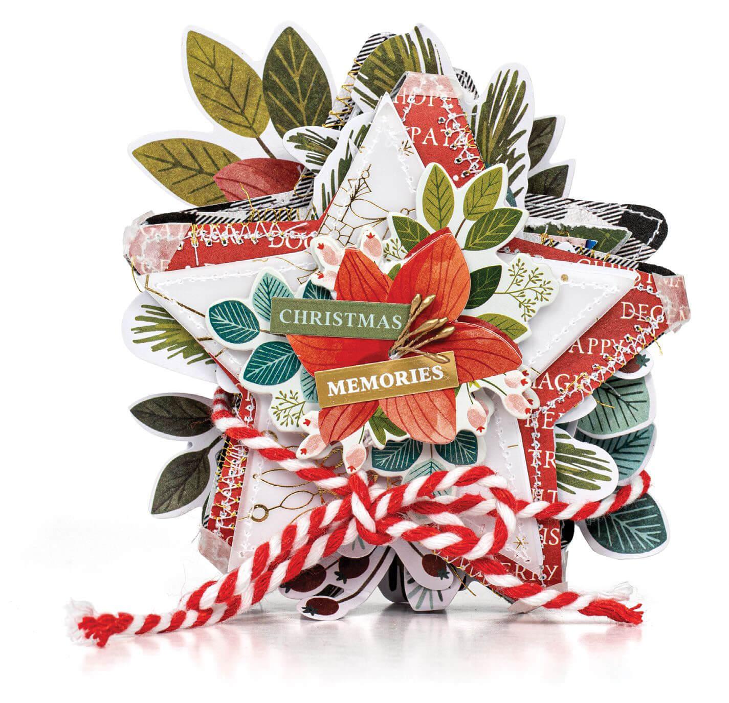 Scrapbook & Cards Today - Winter 2019 - Christmas Memories mini album by Paige Evans