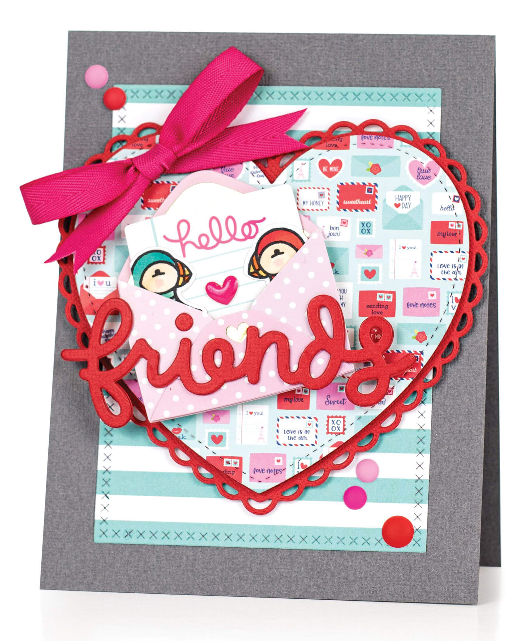 Scrapbook & Cards Today - Winter 2019 - Friends card by Latisha Yoast