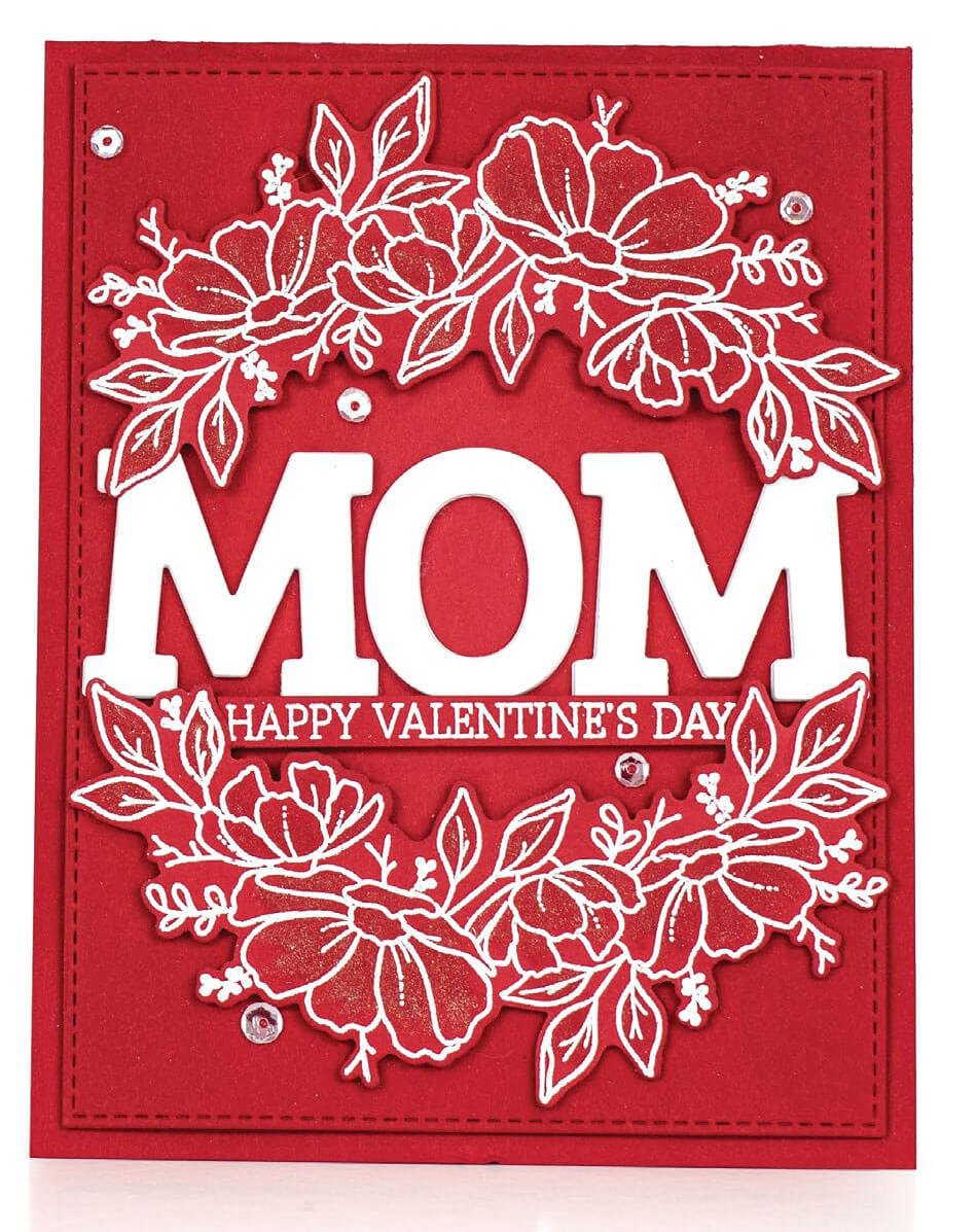 Scrapbook & Cards Today - Winter 2019 - Mom card by Betty Wright