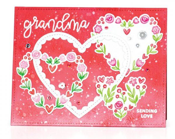 Scrapbook & Cards Today - Winter 2019 - Sending Love card by Suzy Plantamura