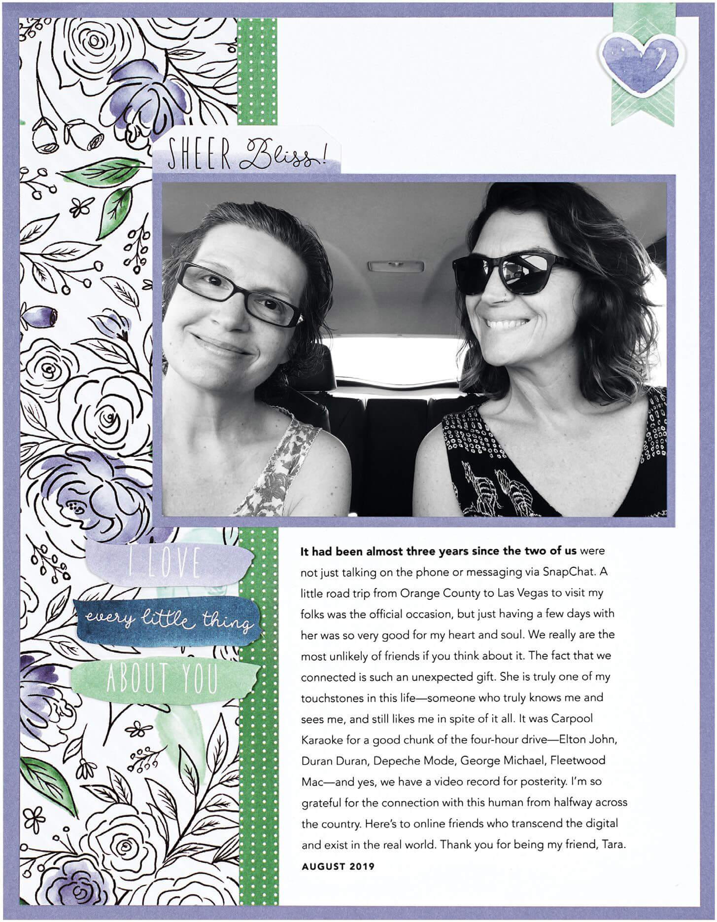 Scrapbook & Cards Today - Winter 2019 - Sheer Bliss layout by Cathy Zielske