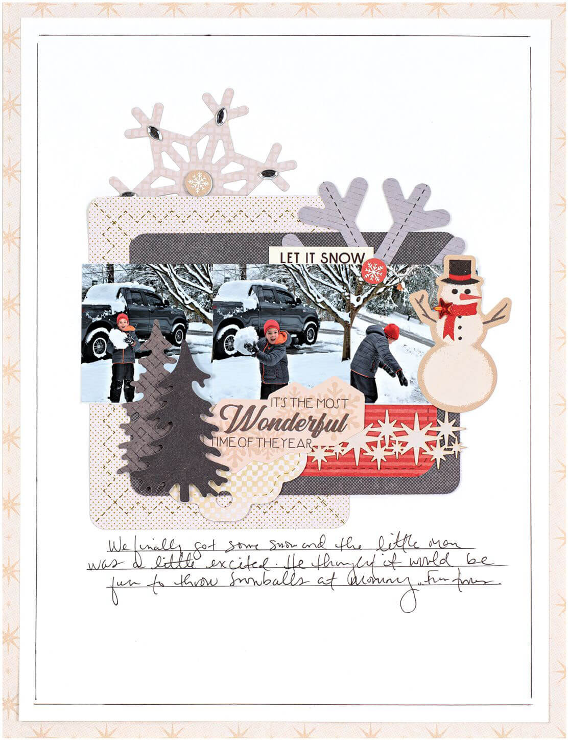Scrapbook & Cards Today - Winter 2019 - It's The Most Wonderful Time of the Year layout by Nicole Martel