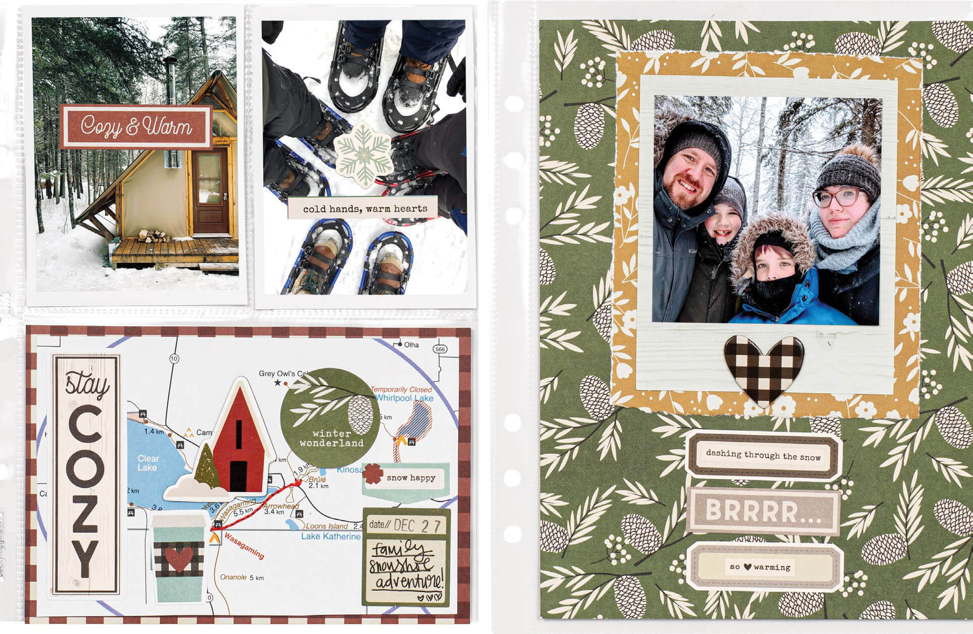 Scrapbook & Cards Today - Winter 2019 - Stay Cozy by Odessa Reichel
