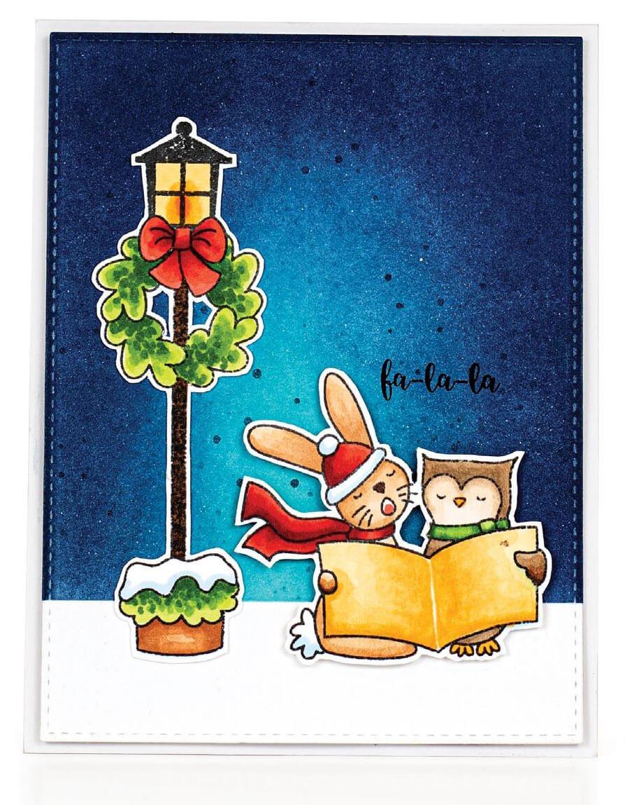 Scrapbook & Cards Today - Winter 2019 - Fa-La-La card by Karin Akesdotter