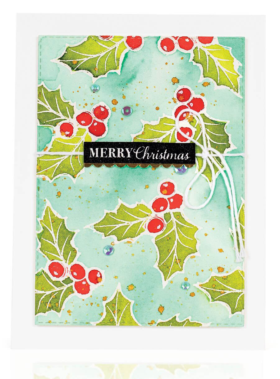 Scrapbook & Cards Today - Winter 2019 - Merry Christmas card by Ashley Van Camp