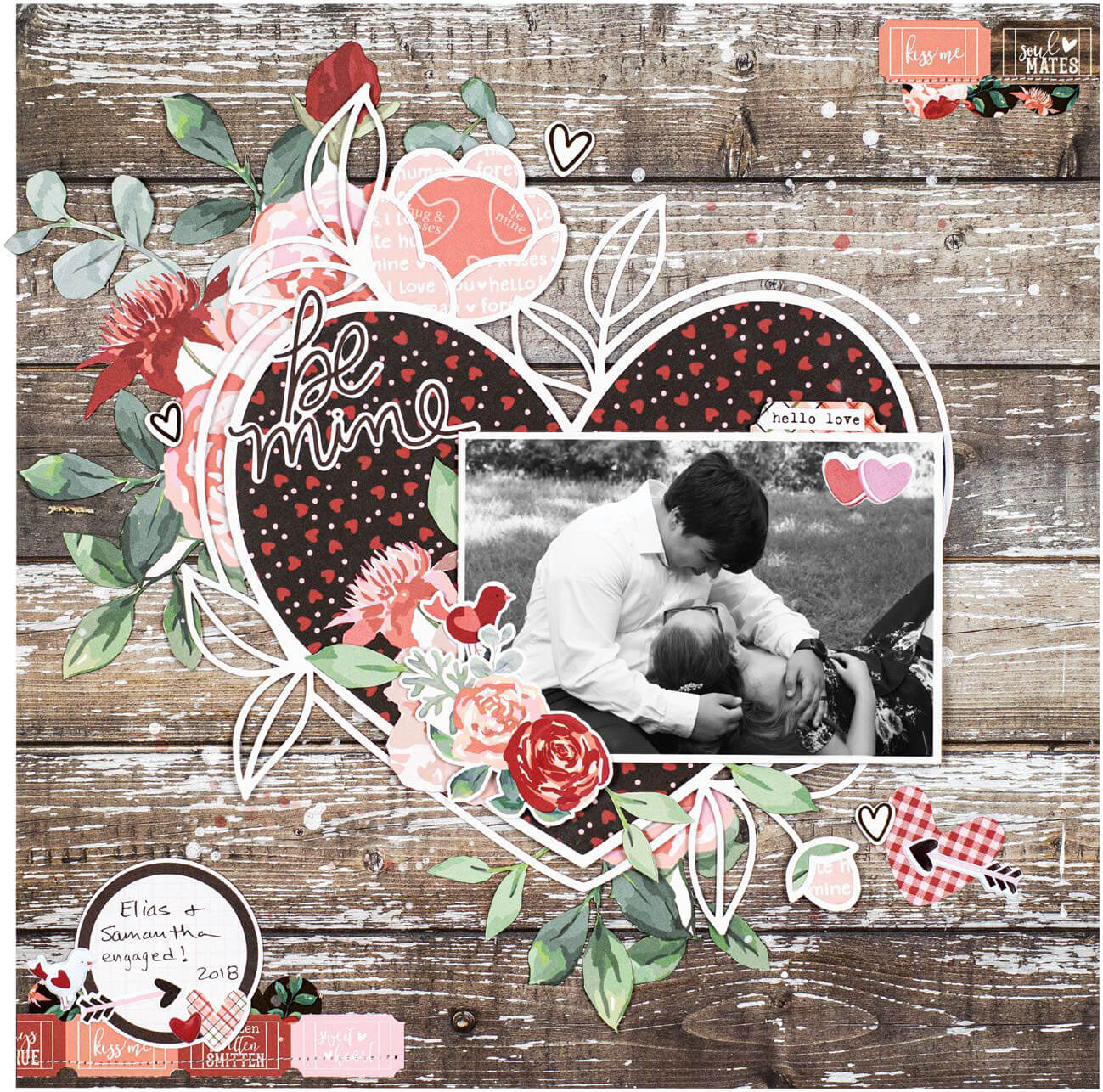 Scrapbook & Cards Today - Winter 2019 - Be Mine by Marcia Dehn-Nix