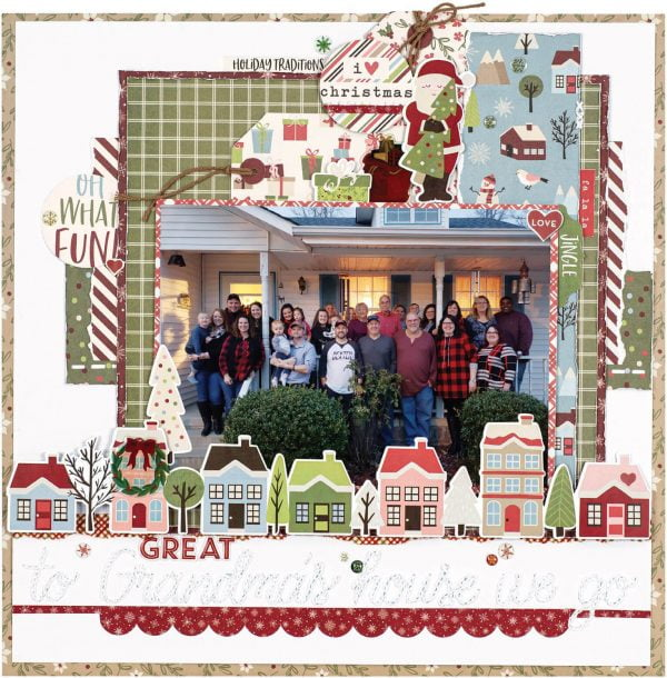 Scrapbook & Cards Today - Winter 2019 - To Great Grandmas House We Go layout by Rona Mallard