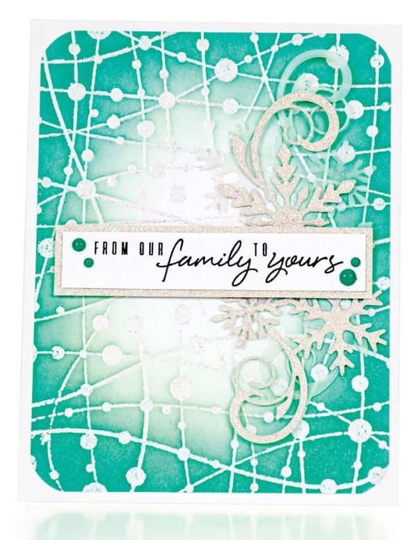 Scrapbook & Cards Today - Winter 2019 - From Our Family To Yours card by Caly Person