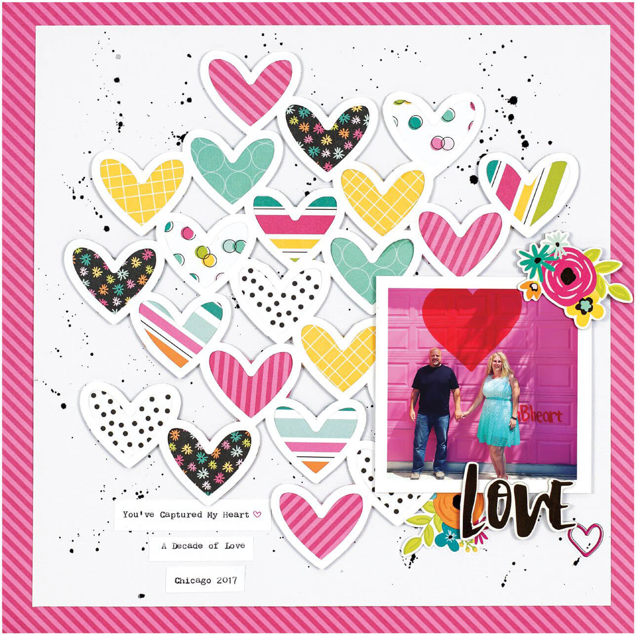 Scrapbook & Cards Today - Winter 2019 - Love layout by Ali Skifton