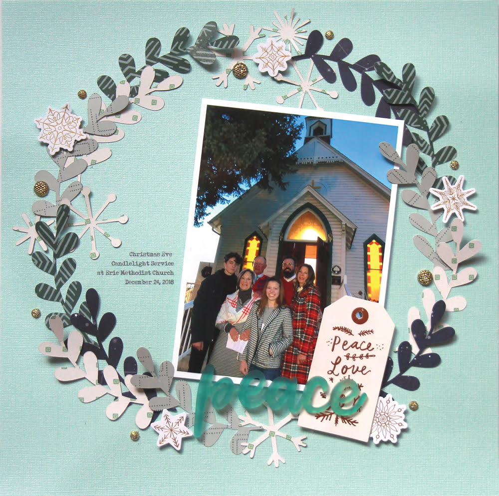 SCT Delivered Kit - Winter 2019 - Let It Snow - Layout by Lisa Dickinson