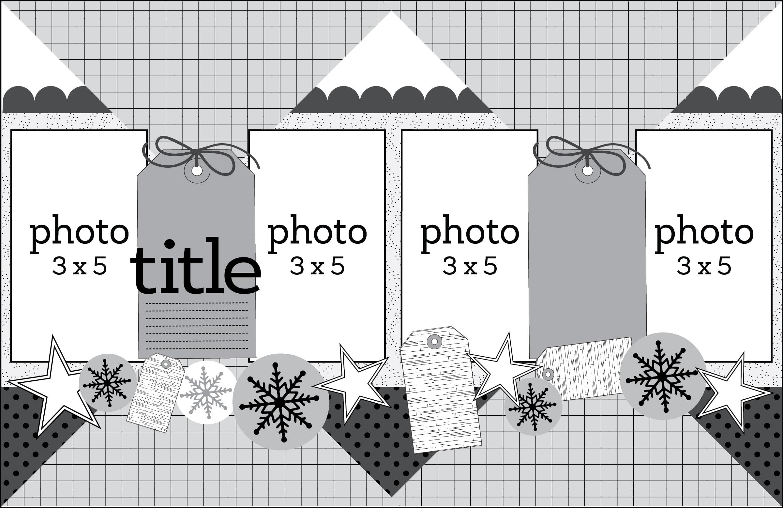 SCT Delivered Kit - Winter 2019 - Let It Snow - Sketch