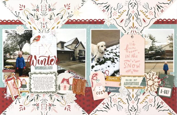SCT Delivered Kit - Winter 2019 - Let It Snow - Layout by Meghann Andrew
